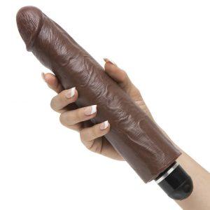 King Cock Whisper Quiet Realistic Dildo Vibrator 10 Inch